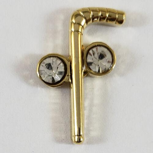 Masonic Two Ball Cane Lapel Pin Mason Freemason