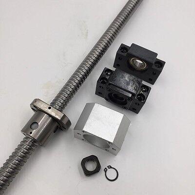 Sfu1610 Ballscrew Rolled Anti-backlash L500mm Single Ballnut End Machining Kit