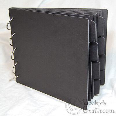 Tabbed Chipboard Album - Black Chipboard Tabbed Album 8