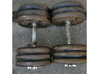 Two 30kg heavy duty dumbells