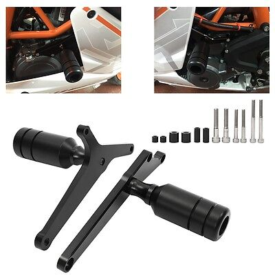 Black Frame Slider Crash Falling Engine Protector Guard For KTM RC390 2014-2016