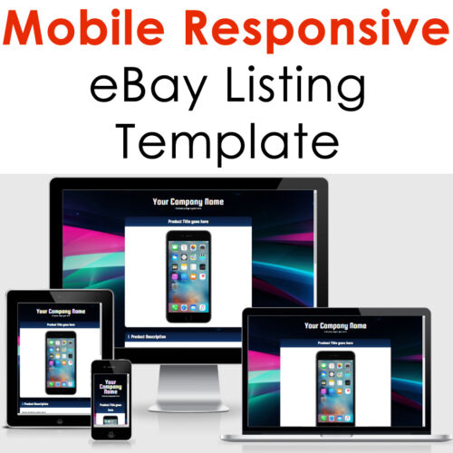 Ebay Listing Template Responsive Professional Auction Html Mobile 2021 Design