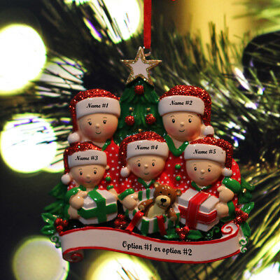 Personalised Christmas Ornaments (Personalized Christmas Tree Ornaments Family of 2 3 4 5 6 Holiday Gift)