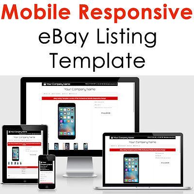Template Ebay Listing Auction 2018 Html Design Responsive Professional Compliant