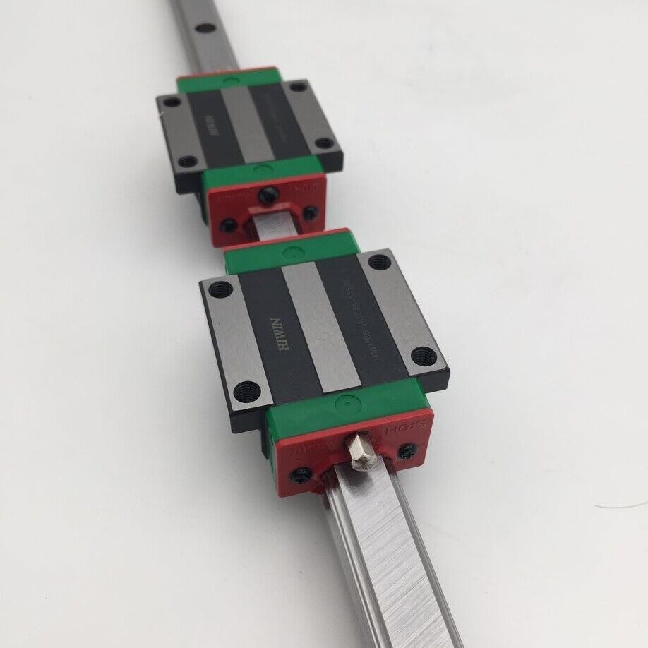 2pc Bloc HGH15CA CNC Gravure originale HGR15 hiwin Linear Rail Guide L1000mm