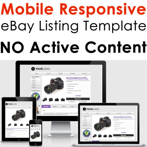 Template Ebay Listing Auction Design Responsive 2021 Professional Compliant Html