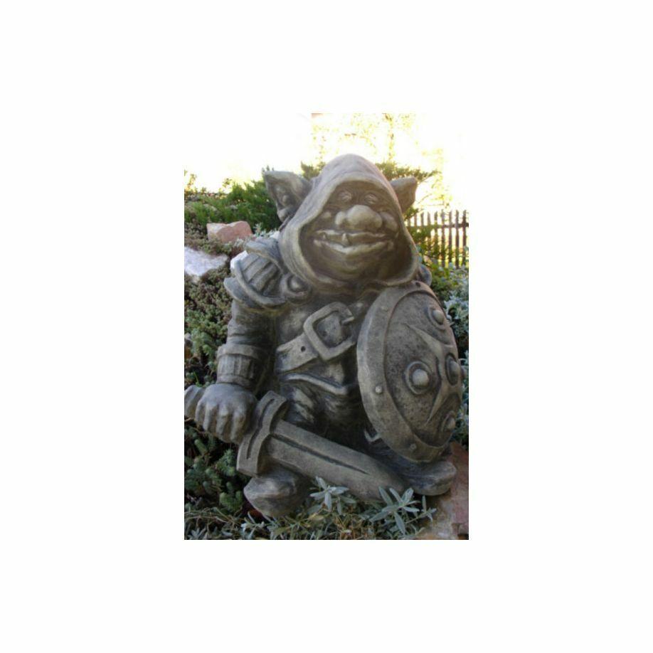 Burgwächtertroll Troll Türwächter Gartenfigur frostsicher Garten Gnom Torwächter