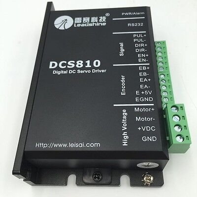 Leadshine 18-80vd 20a Dc Servo Driver Brushed Dcs810 Dsp Digital For Motor Cnc