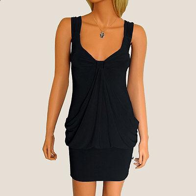 Draped Bodycon Cocktail Evening Party Clubwear Mini Dress co9674 Black (Drape Evening Cocktail Mini)