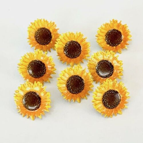 SUNFLOWER BRADS ** 8 PCS ** EYELET OUTLET
