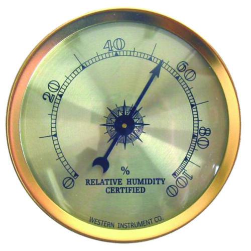 Cigar Oasis Analog Hygrometer by Western Humidor Adjustable
