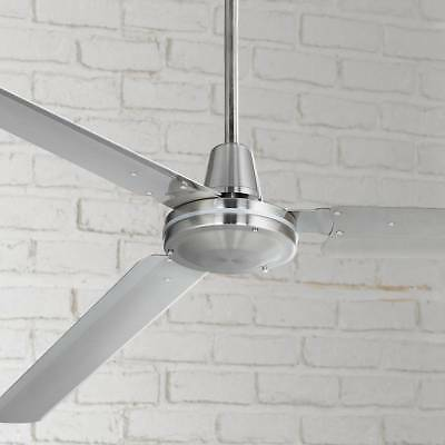 """72"""" Modern Industrial Ceiling Fan Brushed Nickel with Wall Control - Lamps Plus"""