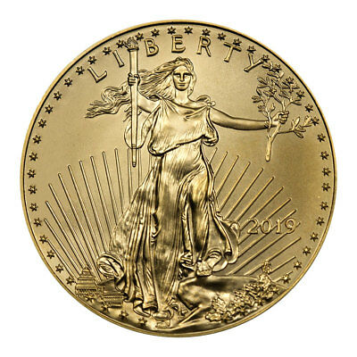 2019 1/10 oz Gold American Eagle $5 GEM BU SKU55913