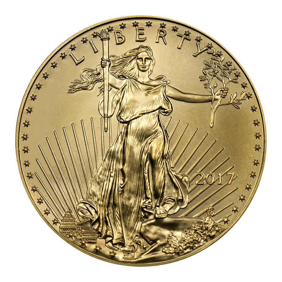 Купить 2017 $5 1/10 Troy oz. American Gold Eagle Coin SKU44733