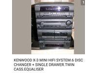 KENWOOD HI FI FULL WORKING . + CABINET + CDs