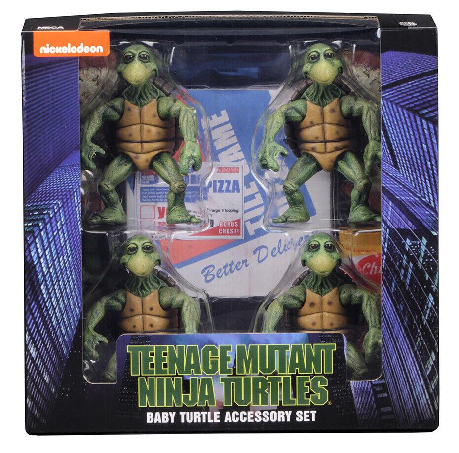 NECA Teenage Mutant Ninja Baby Turtles Set 1990 Movie 1/4 Sc