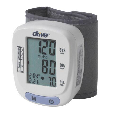 Automatic Wrist Blood Pressure Monitor Digital BP Cuff Machine Pulse Meter Kit