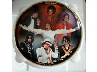 RARE, COLLECTABLE MICHAEL JACKSON PLATE, 22 CARROT GOLD EDGING ...