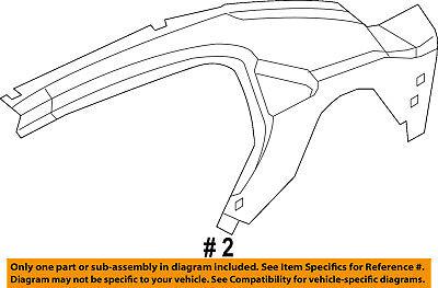 Dodge CHRYSLER OEM 08-14 Avenger Rear Quarter Panel-Inner Panel Right 5155076AA