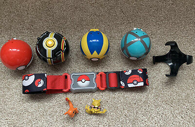 Pokemon Clip 'N' Carry Go Belt with Pokeballs - Pikachu, Charmander, 4 Pokeball
