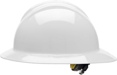 Bullard Full Brim Hard Hat With 6 Point Ratchet Suspension White
