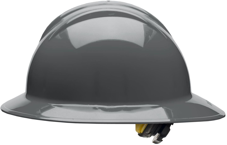 2c5cc2500 Details about Bullard Full Brim Hard Hat with 6 Point Ratchet Suspension,  Gray