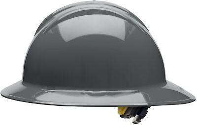 Bullard Full Brim Hard Hat with 6 Point Ratchet Suspension, Gray