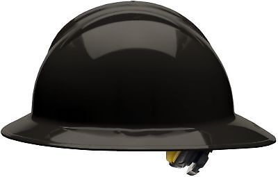 Bullard Full Brim Hard Hat with 6 Point Ratchet Suspension, Black