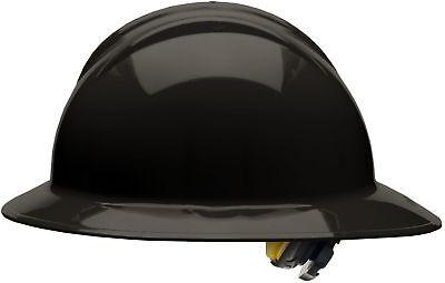 Bullard Full Brim Hard Hat With 6 Point Ratchet Suspension Black
