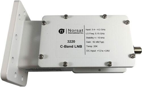 Norsat 3220, C-Band PLL LNB 3.4 - 4.2 GHz ±10 kHz Stability F Type 75 Ohm - NEW!