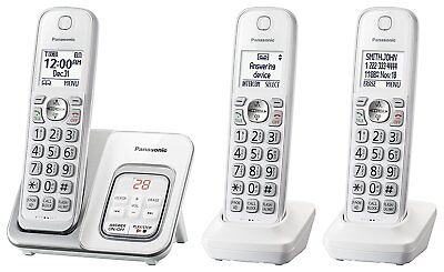 Used, Panasonic KX-TGD533W Expandable Cordless Phone w/ Call Block & Answering Machine for sale  Shipping to Nigeria