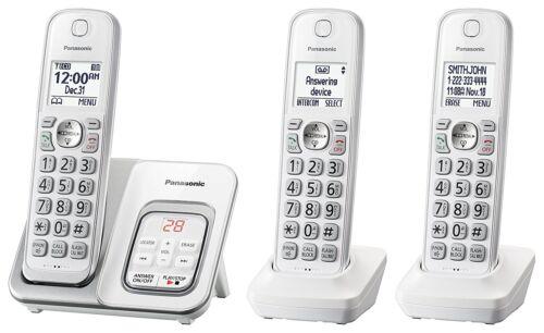Panasonic KX-TGD533W Expandable Cordless Phone w/ Call Block & Answering Machine