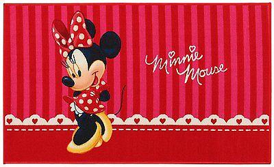 Kinder Teppich Kinderteppich Minnie Mouse   Größe 140 x 80 cm