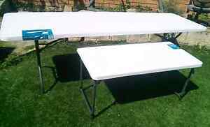 Portable collapsible large and small trestle tables Alexander Heights Wanneroo Area Preview