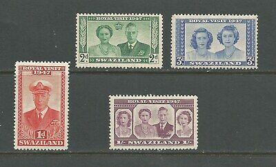 Swaziland 1947 George VI Royal Visit, mint set.  SG42-5