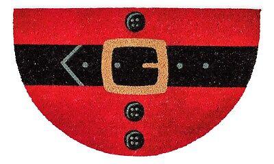 "Christmas Santa Belly Holiday Doormat 18x30"" Inch | 100% Coconut Coir Fiber Mat"
