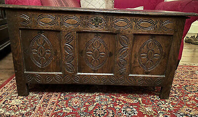Antique 17th Century small Oak Coffer/Blanket Box - Ideal Coffee Table,TV Stand