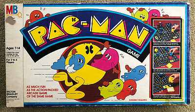 Vintage Pac-Man Board Game 1980 Milton Bradley Green Ghosts Missing 1 Piece