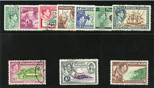 Pitcairn Is 1940 KGVI set complete very fine used. SG 1-8. Sc 1-8.