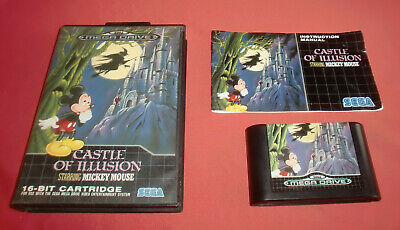 Megadrive 1 & 2 Castle of Illusion starring Mickey Mouse [PAL] Sega *JRF*