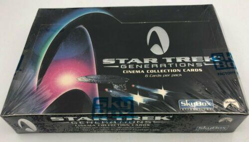 Star Trek Generations 1994 Skybox Cinema Collection Trading Card Box 36 Packs