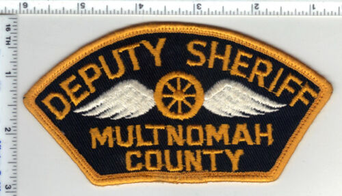 Multnomah County Deputy Sheriff (Oregon) Uniform Take-Off Shoulder Patch 1980