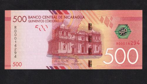 "Nicaragua 500 Cordobas (2014) Replacement ""R"" Paper money P215 UNC"