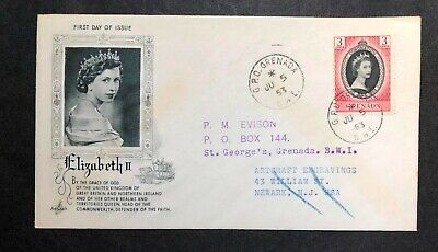Grenada 1953 Coronation FDC First Day cover