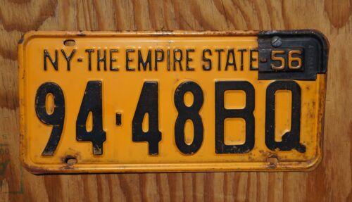 1955 1956 NEW YORK Passenger License Plate - Original Paint