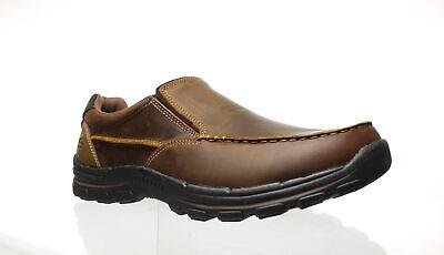 Skechers Men's Braver Rayland Slip-On Loafer,Dark Brown Leat