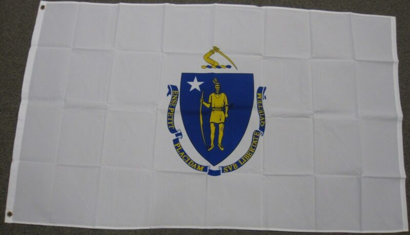 3X5 MASSACHUSETTS STATE FLAG MA FLAGS NEW BANNER F247