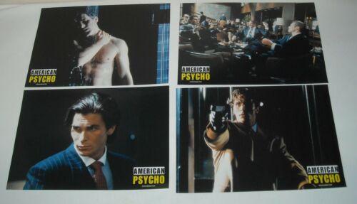 AMERICAN PSYCHO SET 8 EUROPEAN LOBBY CARDS CHRISTIAN BALE JARED LETO KILLER