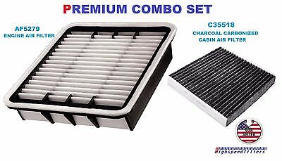 AIR FILTER & CHARCOAL CABIN FILTER COMBO FOR 2001 - 2004 2005 2006 LEXUS LS430