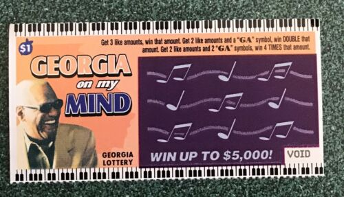Ray Charles Georgia On My Mind   Instant SV Lottery Ticket